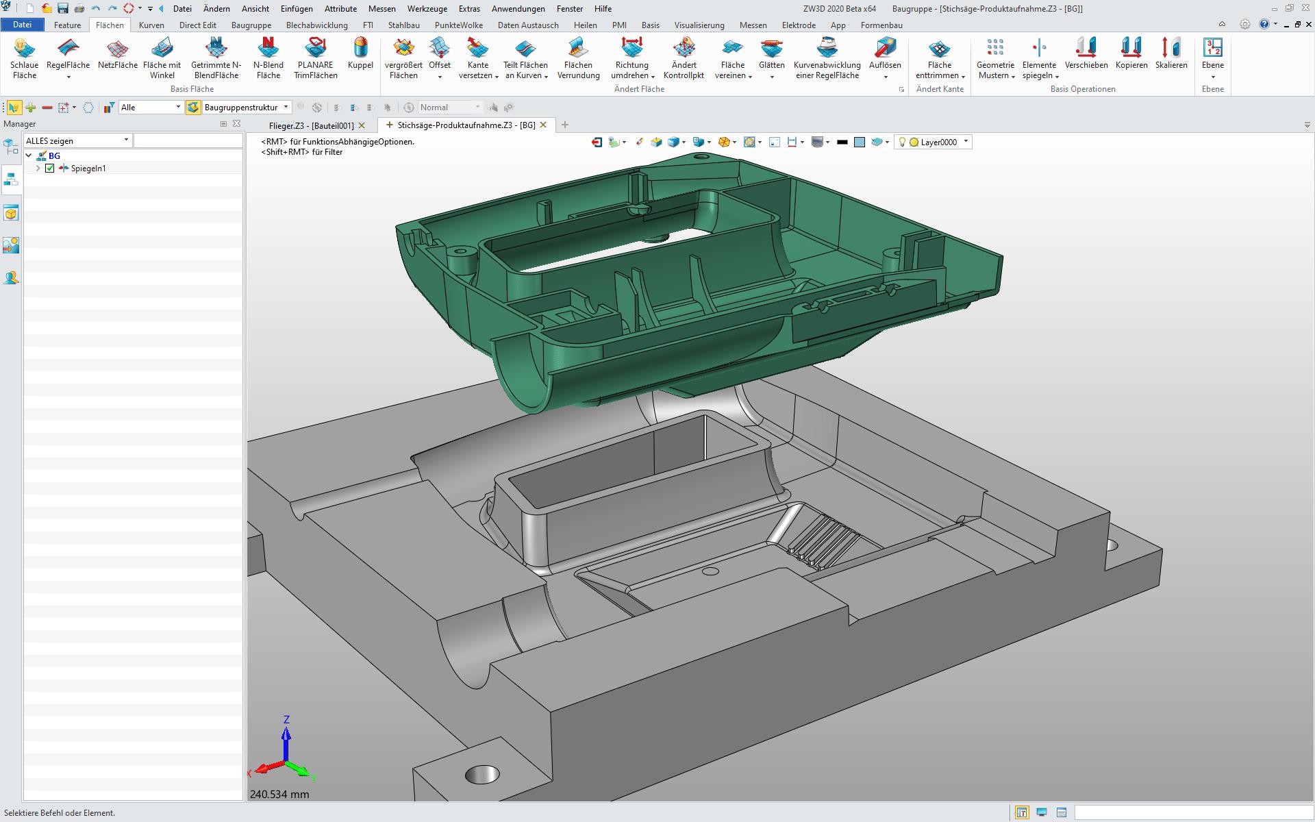 ZW3D Oberfläche